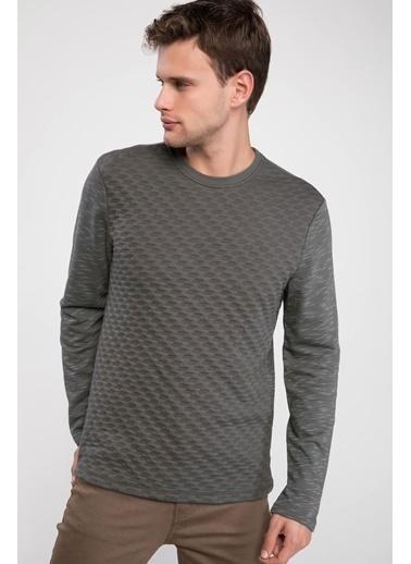 DeFacto Modern Fit Sweatshirt Haki